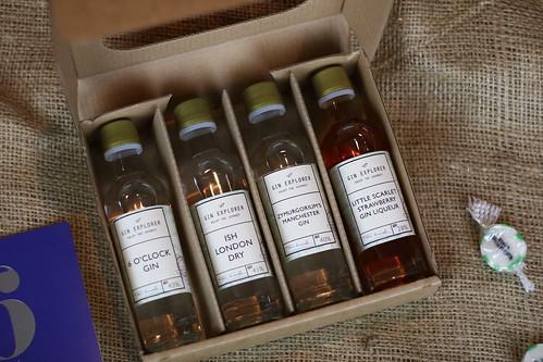 Gin Explorer mini gin bottles