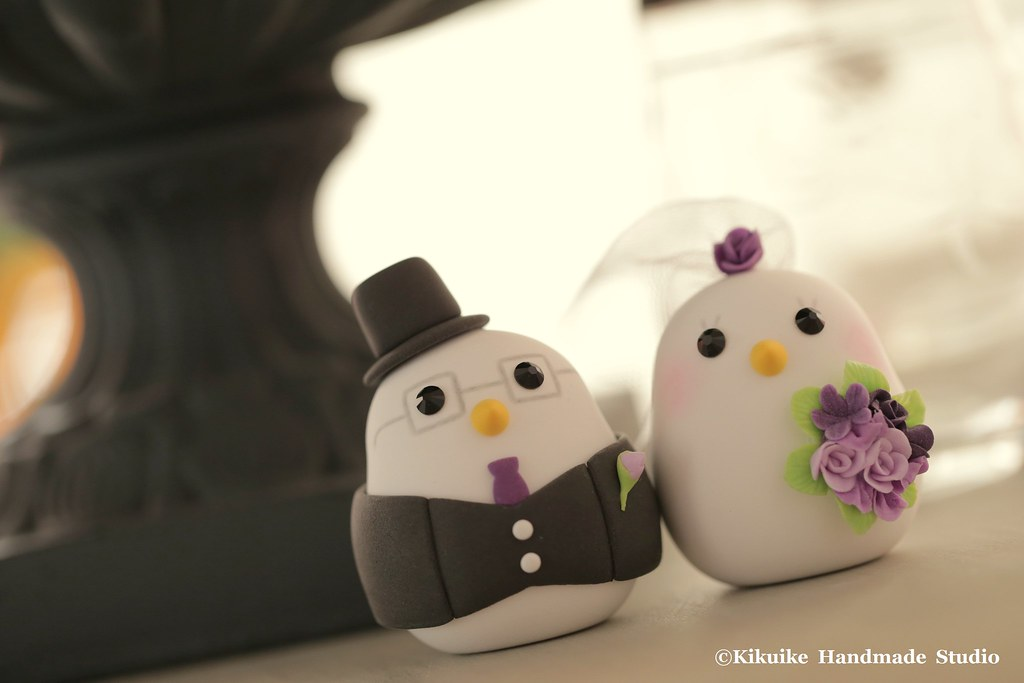 love bird wedding cake topper,with swallow-tailed coat, tu…   Flickr