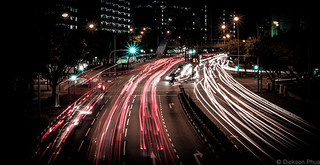 Busy junction light trails at night | by gunman47
