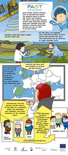 Foreshore Assessment using Space Technology project comic strip (EN) | by fastspaceproject
