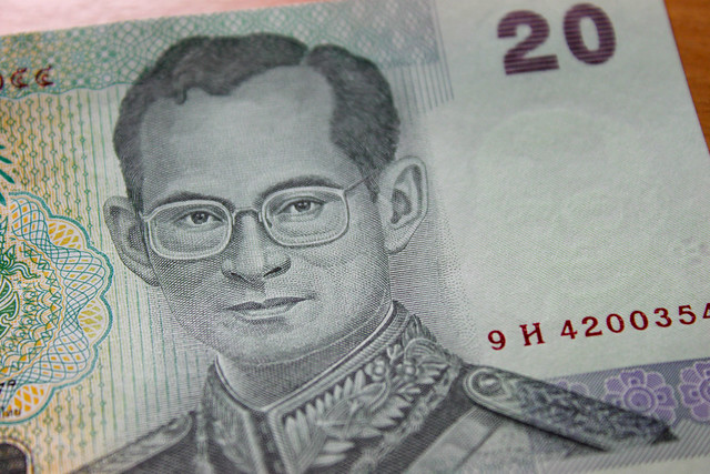 Thai Baht with King Bhumibol the Great on the currency