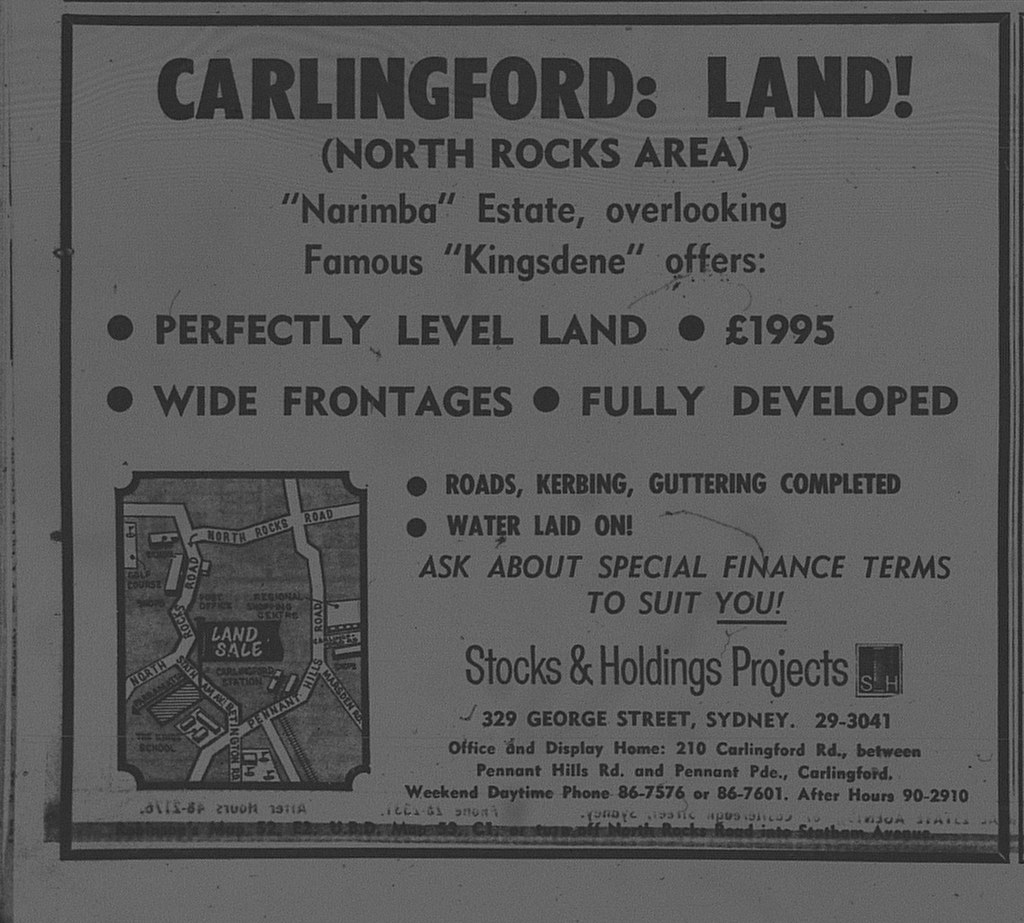 Carlingford Ad February 12 1966 daily telegraph 44