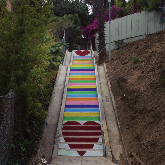 Silver Lake: Home Of White Motels And Rainbow Heart Stairs.