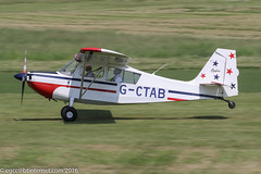 G-CTAB - 1967 build Champion 7GCAA Citabria, rolling for departure on Runway 26L at Barton