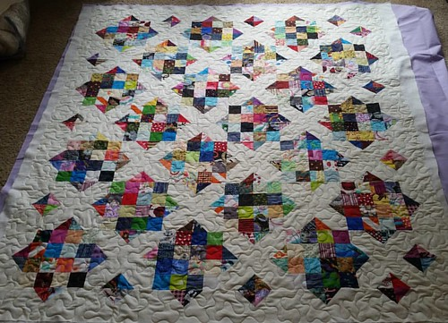 Quilted Goodnight Irene today at Dad and Ann's.