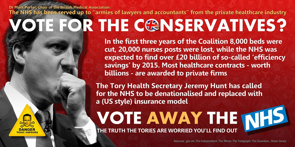 Image result for tories NHS poeter photo