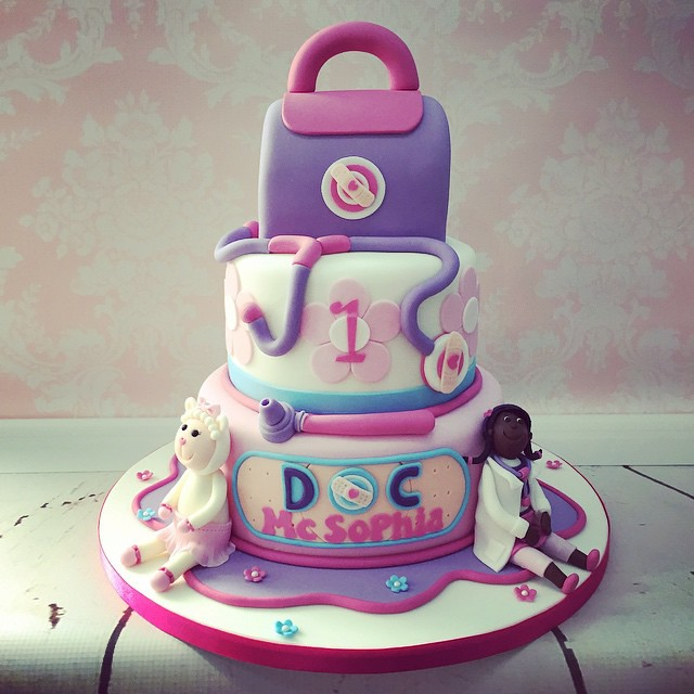 Yesterdays 3 Tier Doc Mcstuffins 1st Birthday Cake With M Flickr