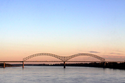 Hernando DeSoto Bridge at Dusk - Memphis