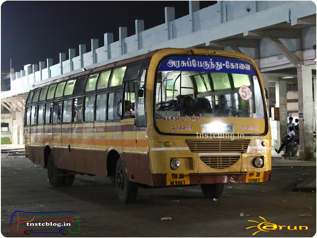 TN-38N-1167 of Pollachi 1 Depot Route 34 Pollachi - Sethumadai. |