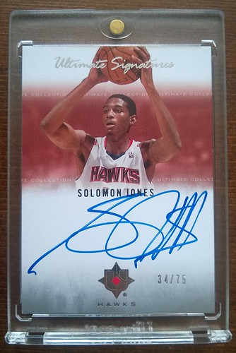 2007-08 Ultimate Collection Signatures #SJ Solomon Jones /75 | by milkowski.pawel