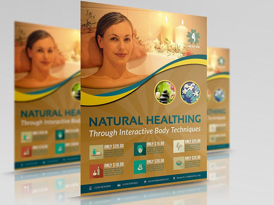 spa flyer template for more information and download pleas flickr