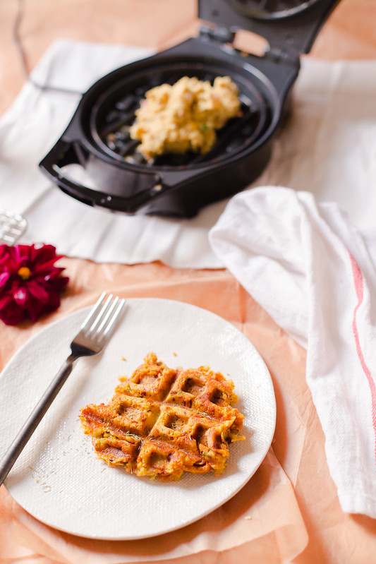 Savoury Potato and Chickpea Waffles
