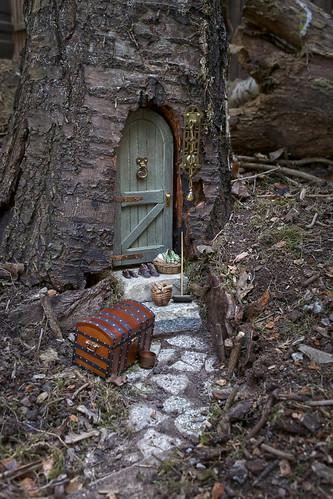 Fairy Door In Tree Trunk My Latest Garden Project Is