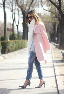 Pink trench & Ripped Jeans19 | by BeSugarandSpice