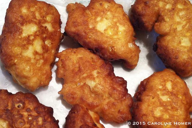 mmm, corn fritters