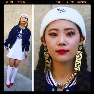 She was pretty dope, too. Those earrings! Diet Coke can purse?! SFW got some characters...and character, now. Ain't like when I started shooting street at SFW back in 2008. Things done changed. | by feetmanseoul
