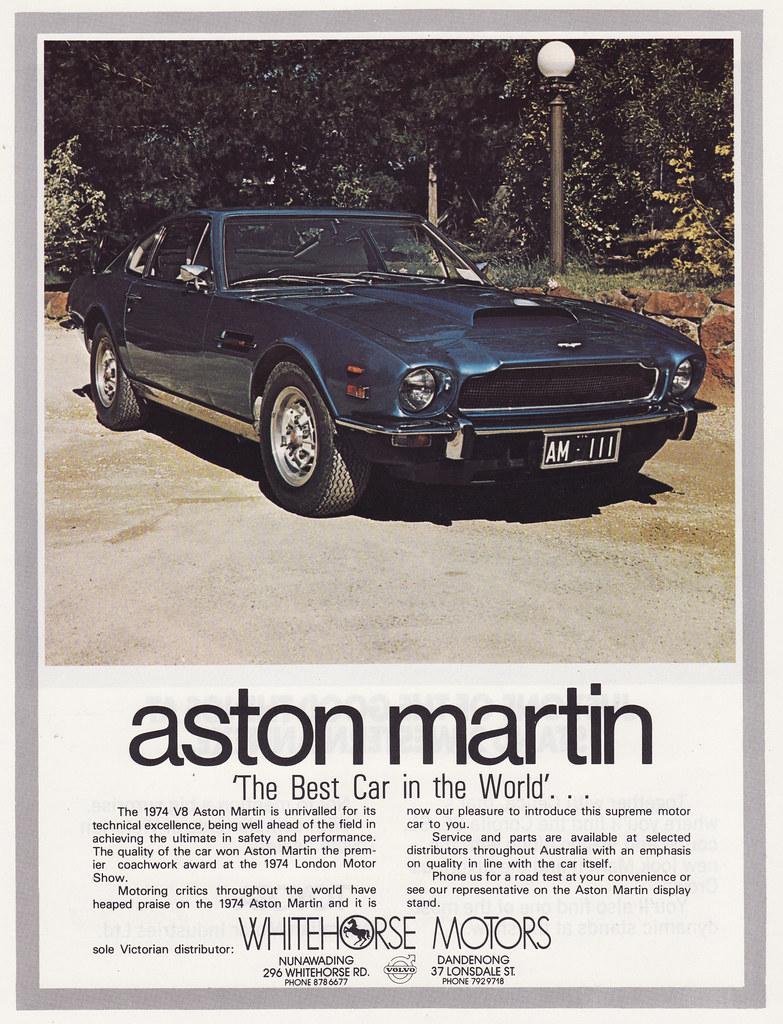 1974 aston martin ad - australia | covers the 1974 aston mar… | flickr