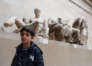 Eoin at the Parthenon Sculptures, British Museum | by Ralph Lavelle