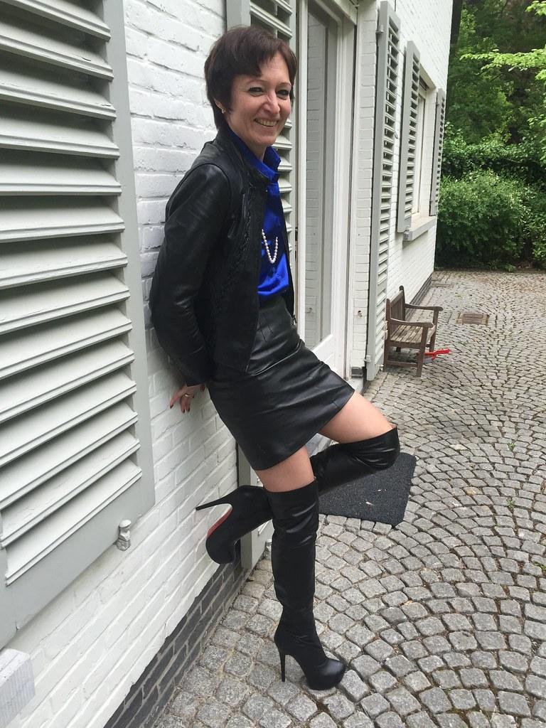 Mature thigh high boots
