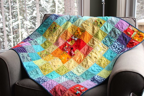 Rainbow Charm Quilt 2 | by CoraQuilts~Carla