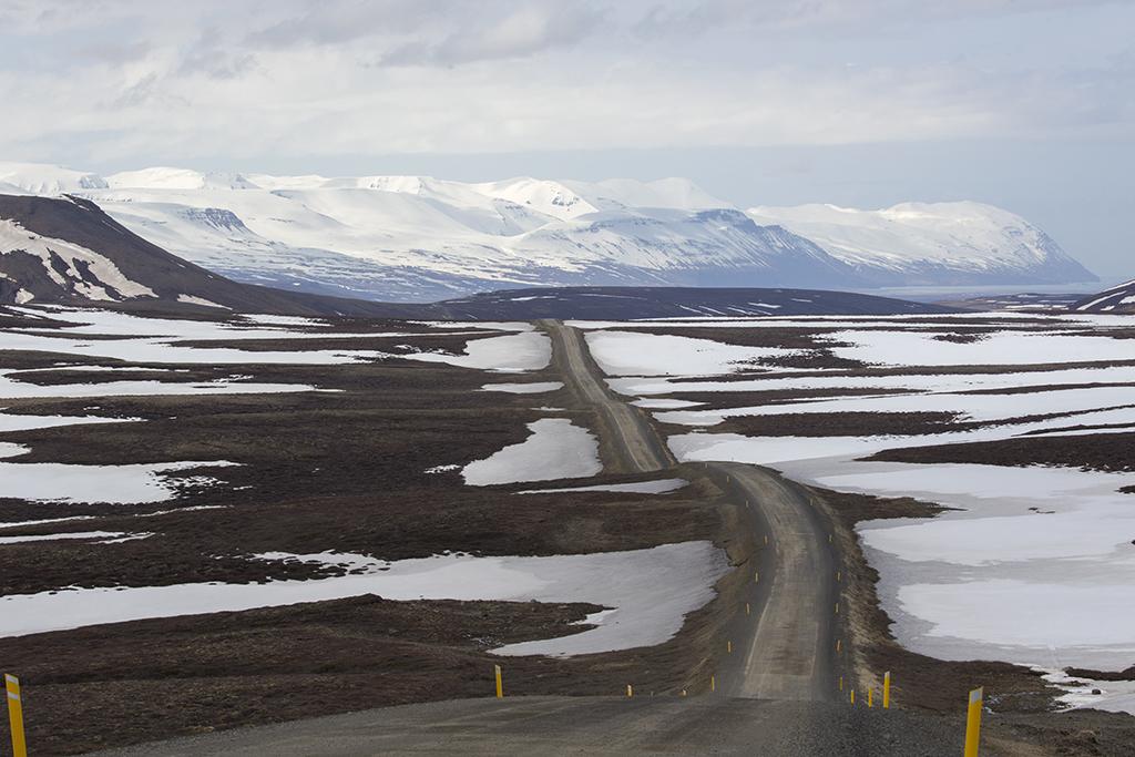 Road No 87 to Husavik  Iceland