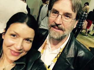 GDC 2015 Neil Kirby and I in line for the #1reason session | by mimmi