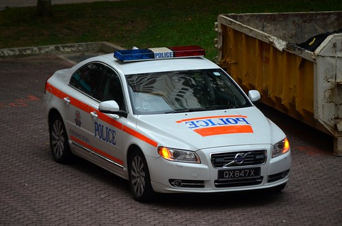 Singapore Police Force Traffic Police Volvo S80 Expressway