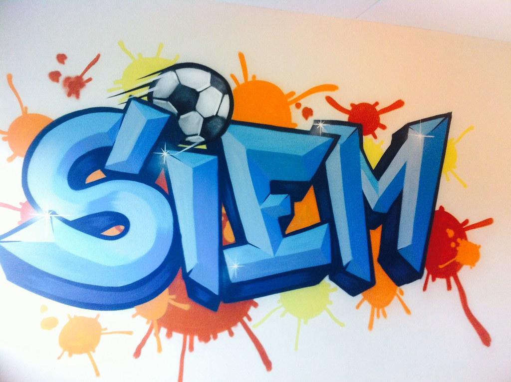 Siem kinderkamer graffiti | graffiti kinderkamer ajax muursc… | Flickr