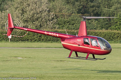 G-HOCA - 2008 build Robinson R44 Raven II, heading for the fuel pumps at Barton