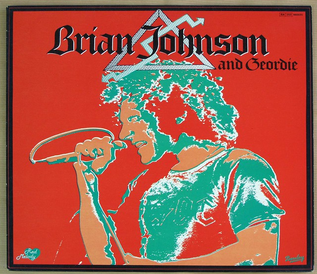 "BRIAN JOHNSON aND GEORDIE BARCLAY FRANCE 12"" LP VINYL"