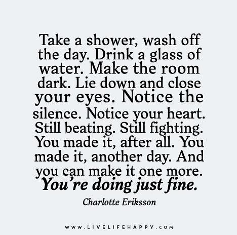 A shower a day