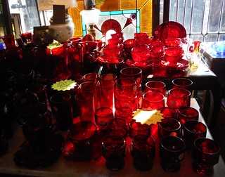 Red glassware | by :: Wendy ::