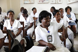 Nurses listen during a training program | by World Bank Photo Collection