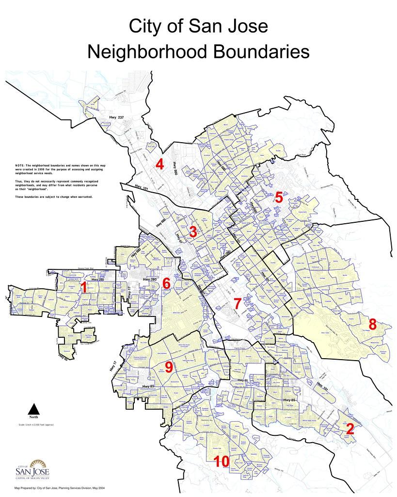 City of San Jose neighborhood map | Neighborhood map city of… | Flickr