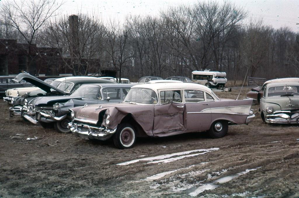 car junkyard 1950s 016 | 35mm slide collection of someone wh… | Flickr