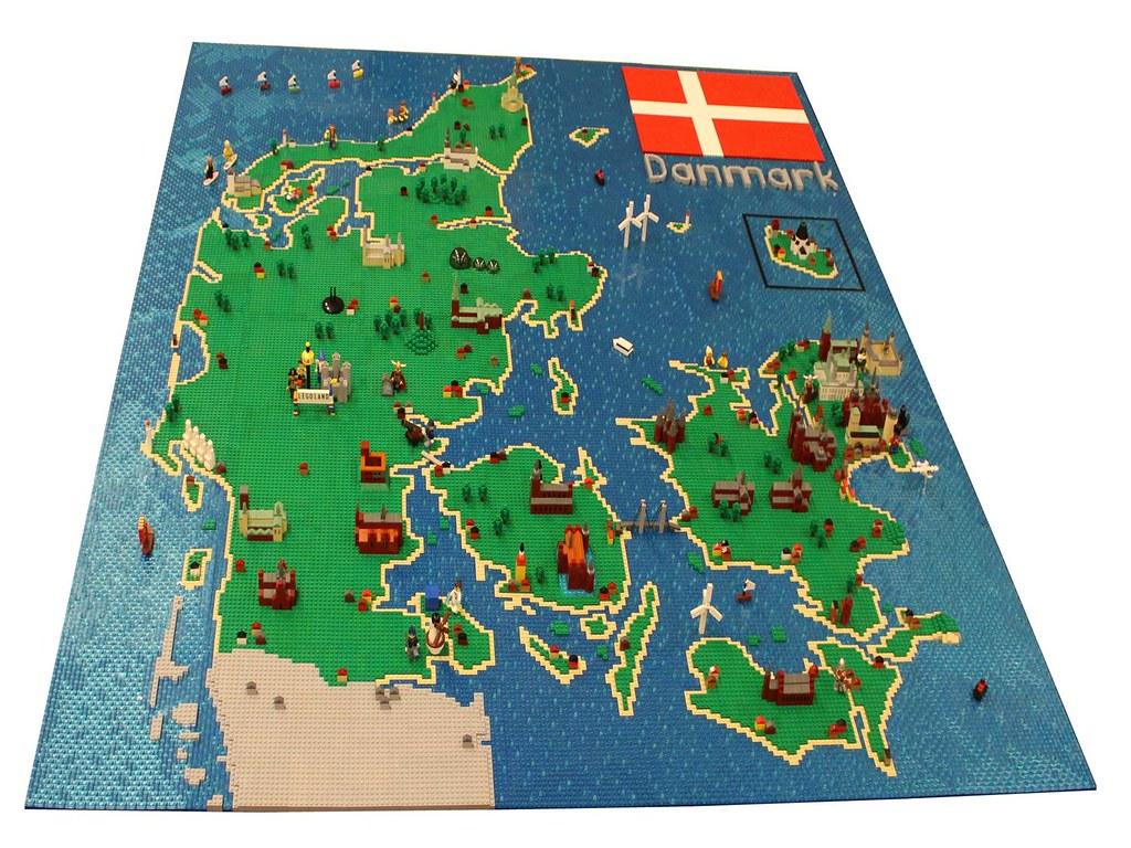 LEGO Map of Denmark LEGO Map of Denmark Built by Lasse Ve Flickr