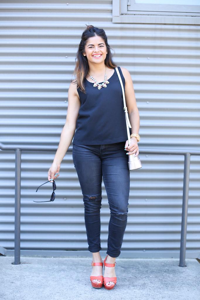 Priya the Blog, Nashville fashion blogger, all black for Summer outfit