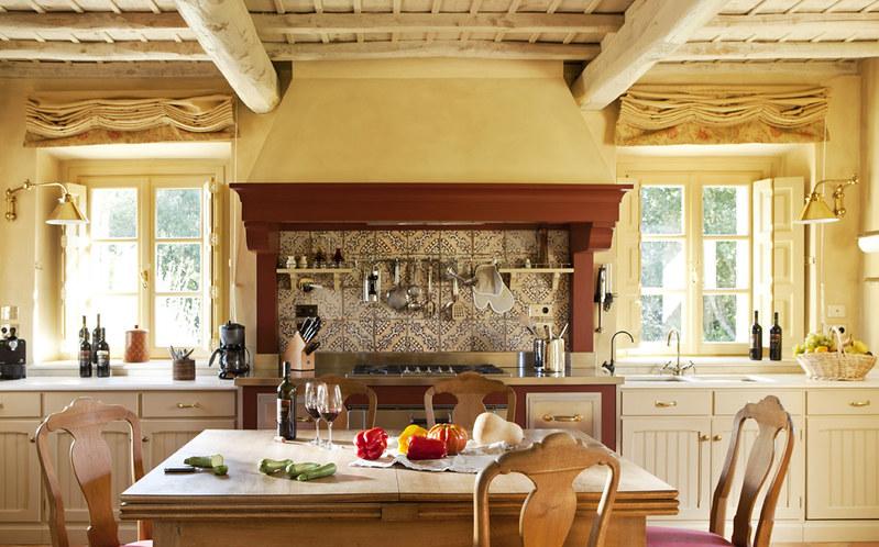 Kitchen in a villa at Rosewood Castiglione del Bosco
