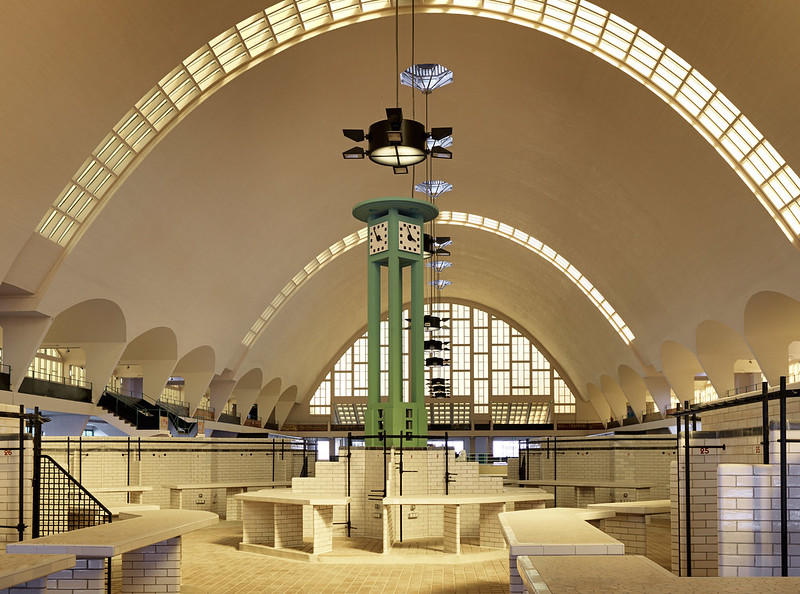 Boulingrin Central Market Hall in Reims, FRANCE
