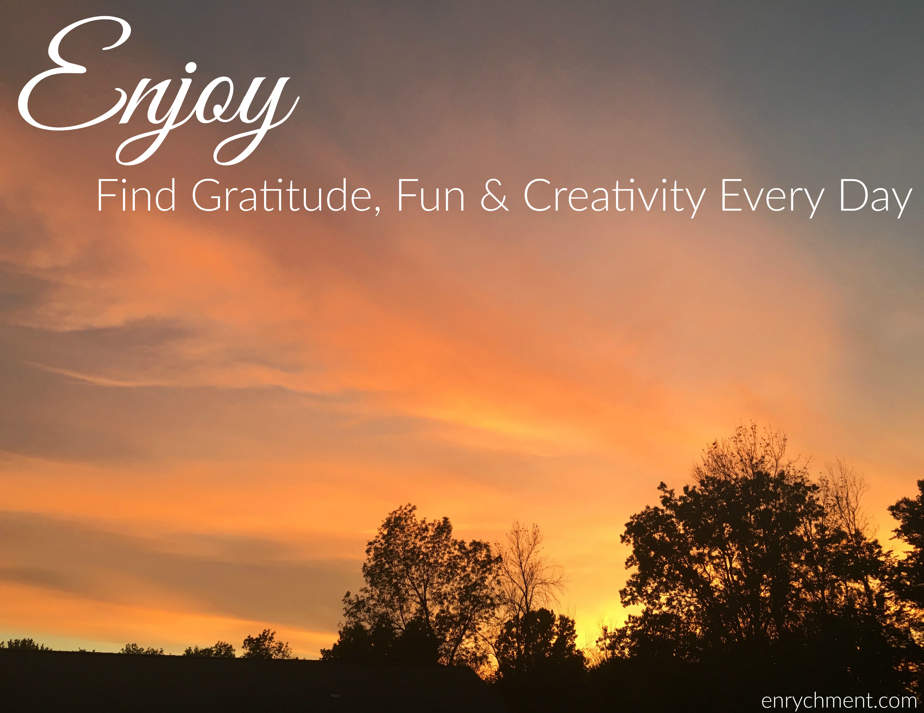 Find gratitude, fun and creativity to help enjoy every single day