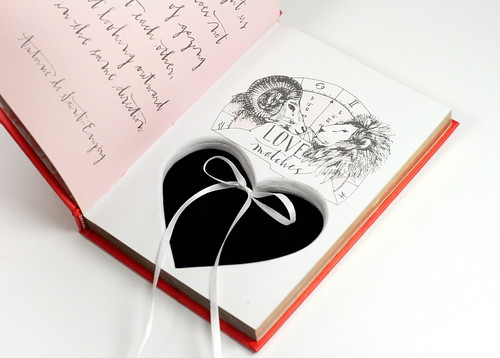 Heart Cut Out Hollow Book - Ring Holder for Engagement Proposal | by Virtualdistortion