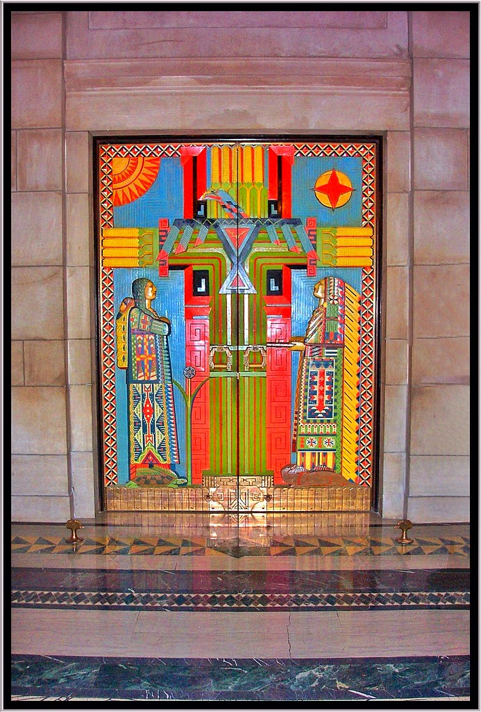 ... Lincoln Nebraska ~ Warner Chamber Native American doors ~ Formerly the Senate Chambers | by Onasill : bill door - pezcame.com