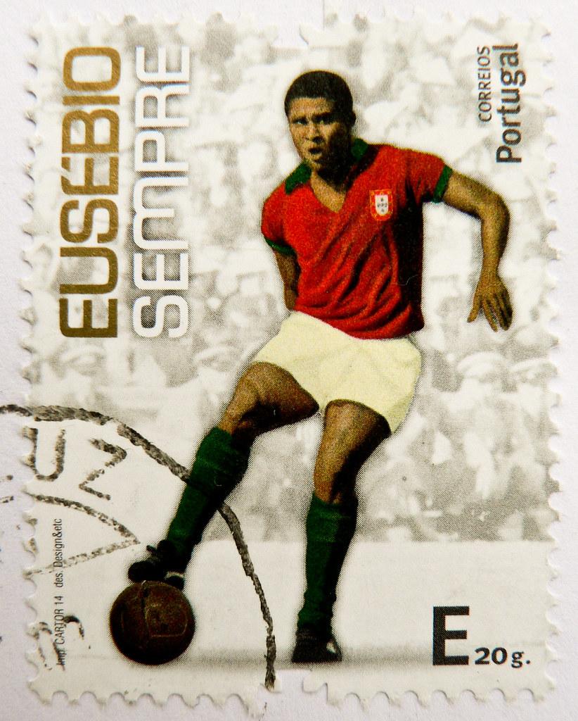 """great stamp Portugal """"E"""" Eusébio da Silva Ferreira 1942 …"""