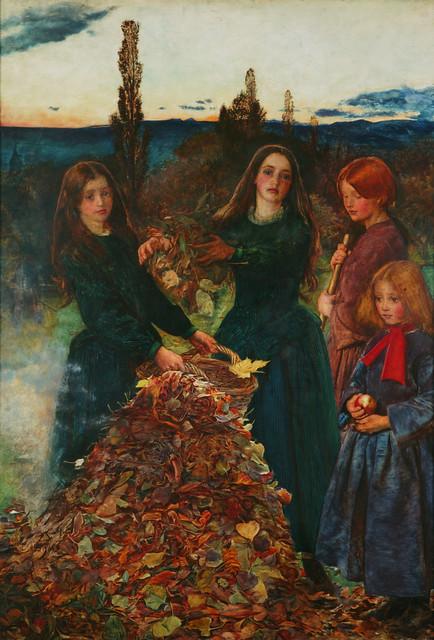 Autumn Leaves by John Everett Millais