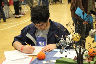 Maker Faire Nova - Drawing a Dial-O-Lantern Face | by Vicky TGAW