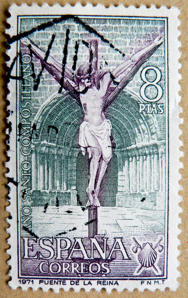 Stamp Spain 8 Ptas Karfreitag Good Friday Vendredi Saint Viernes Santo