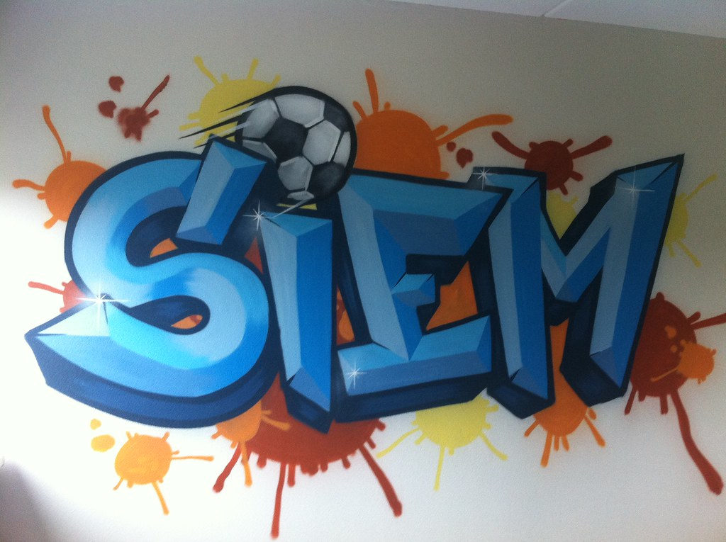 Behang Kinderkamer Voetbal : Siem graffiti kinderkamer graffiti kinderkamer ajax muurscu flickr