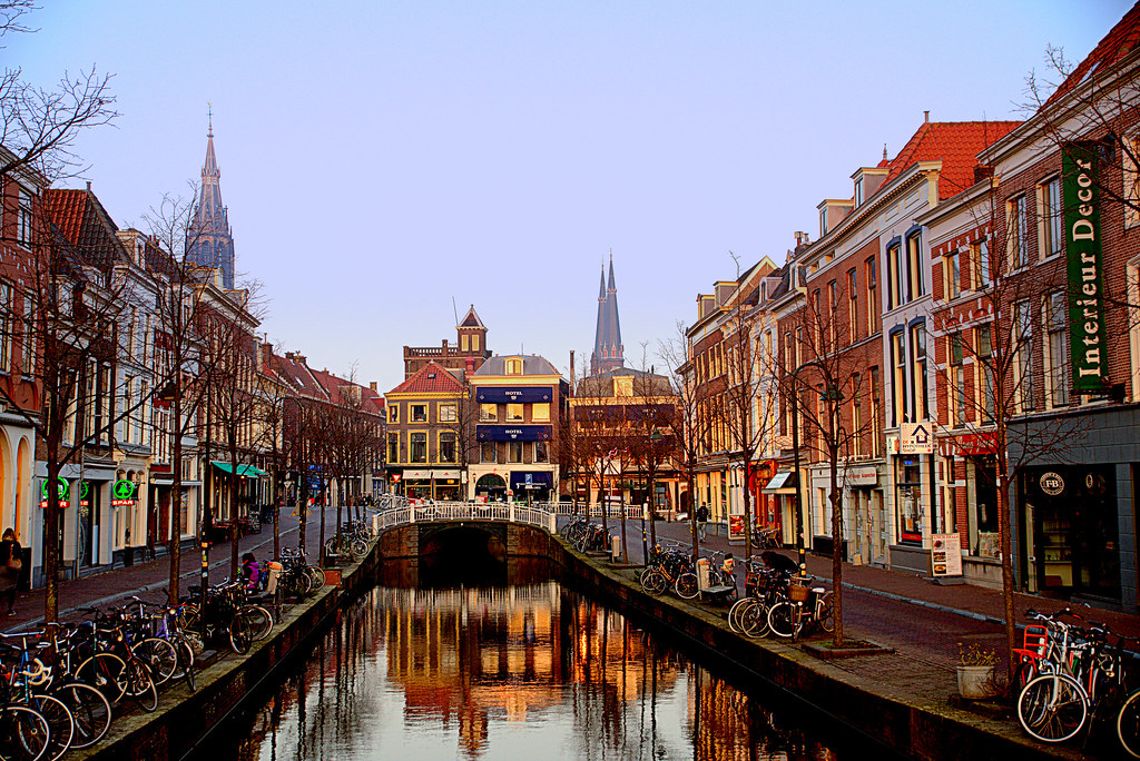 nl delft canal by peter rotterdamnl