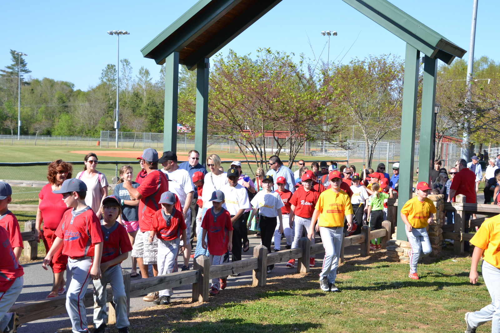 photo of Little League players at Catawba Meadows Park