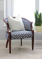 Attrayant Blue Upholstered Chairs 006 | By TheHomesIHaveMade ...